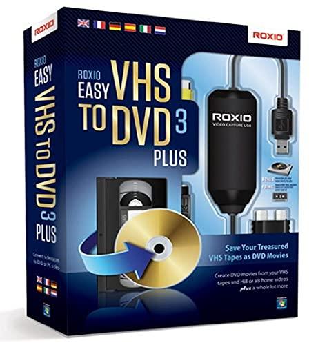 Preisvergleich Produktbild Roxio Easy VHS to DVD 3 Plus Videoschnittsoftware für Apple iPad / iPod Touch / iPhone und Android