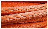 Cabrestantes de remolque de cuerda de cabrestante 20 mm x 50 metros de cuerda de cabrestante sintético naranja cuerda de remolque para ATV / UTV / 4x4 / Off Road Accesorios Cuerdas de remolque