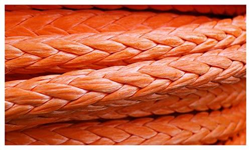 Windenseil Schleppwinden 20mm x 50 meter Orange Synthetische Windeseil-Abschleppseil für ATV/UTV / 4x4 / Aff Road-Zubehör