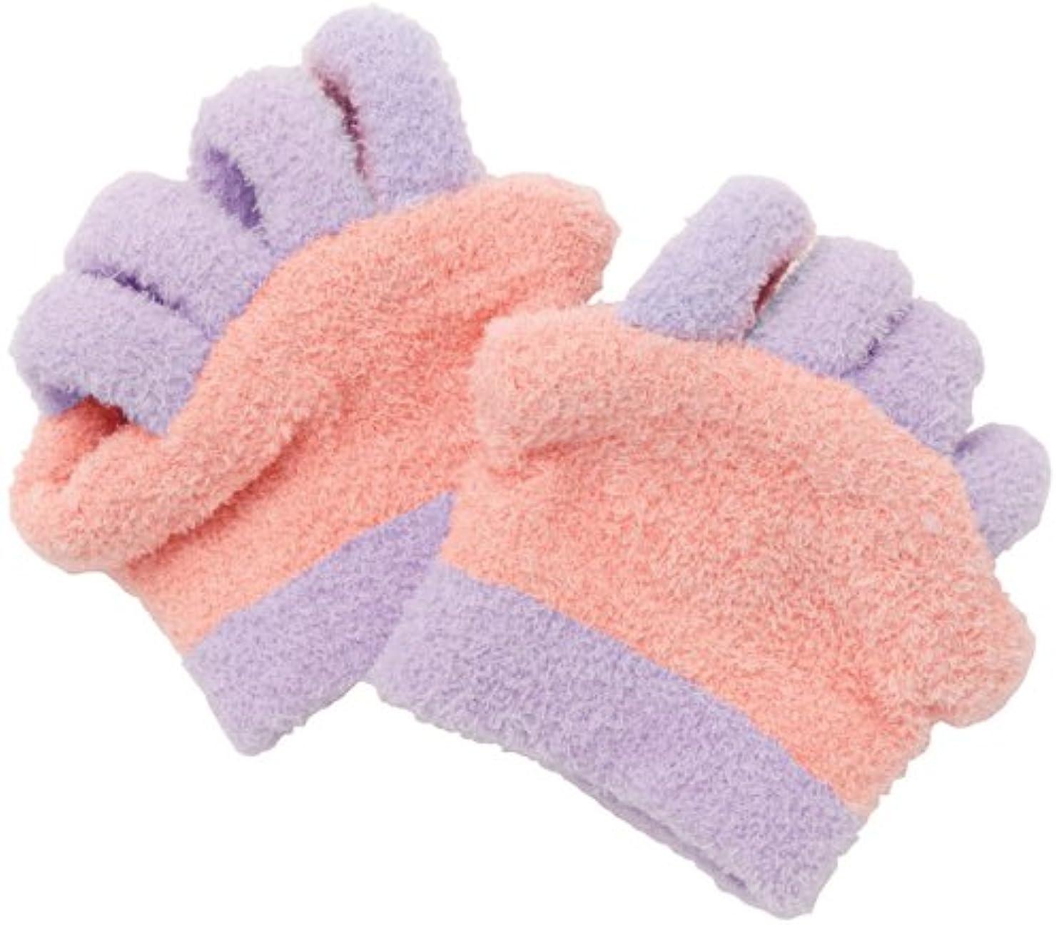 クリーク戸棚引く眠れる森の5本指ふわもこソックス 足指タイプ ピンク 0