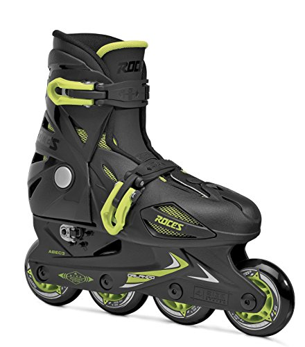 Roces Teen-Boys Modell Orlando III Kinder Inline Skate Größe, schwarz/Lime, US 9–12Jr