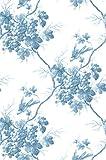 Warner CCP12063 Napa Valley Grape Toile Wallpaper, Blue