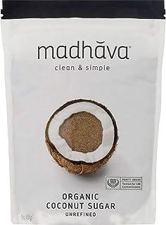MADHAVA Organic Coconut Sugar 16 oz. Bag (Pack of 6) | Natural Sweetener, Sugar Alternative | Unrefined | Sugar for Coffee...