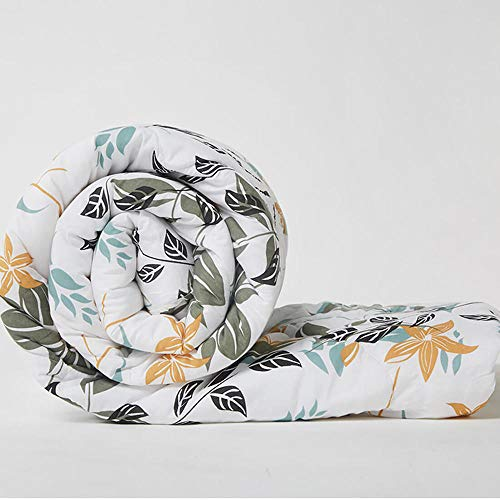 Wakefit Siliconised Microfibre Cotton Printed 220 GSM Double Comforter (Leafy)