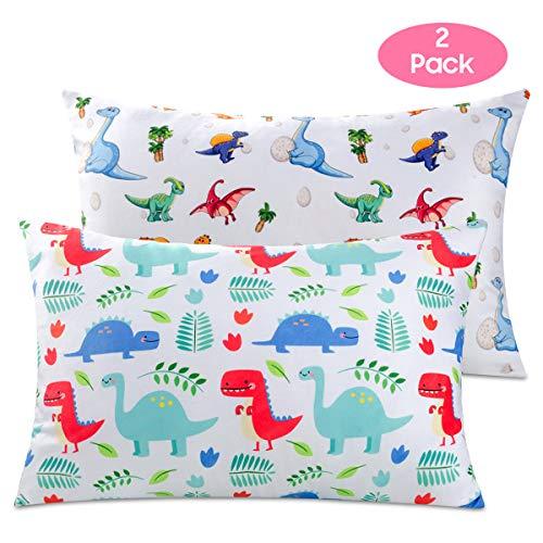Nidoul Toddler Pillowcases, 2 Pack Dinosaur Printing Pillow Cases, 14