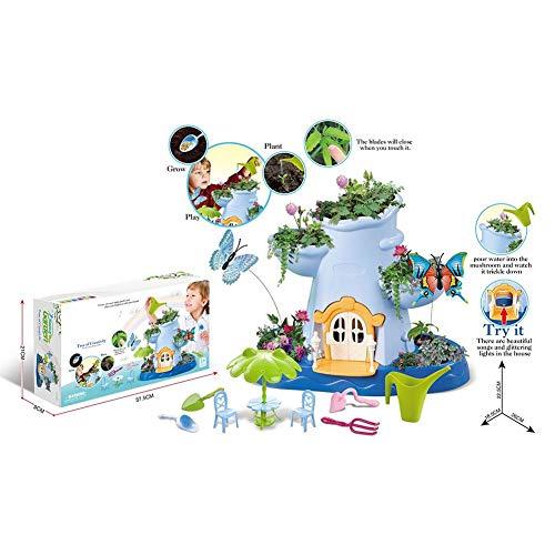 Kit de jardín de hadas, para niñas y niños, juego de jardinería para interiores y exteriores, juego de herramientas de jardinería para niños y niñas a partir de 3 años, juguete educativo regalo