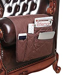 cheap FlyingBean non-slip armrest pocket organizer, sofa, sofa, armchair, armchair, armchair, storage space, phone, book, magazine, chair remote holder storage space, 35 x 17 inches (coffee)