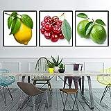VVSUN Leinwand Bilder für Küche Zimmer Wandkunst Zitrone