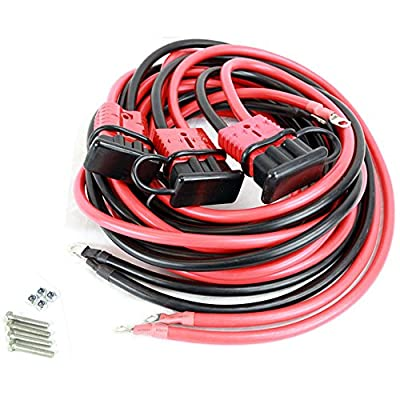 Tuff Stuff Overland TS-22FT-PK 22 Foot Winch Permanent Wiring Kit for Front/Rear 2 Gauge