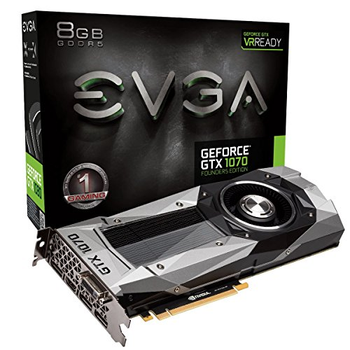 EVGA 08G-P4-6170-KR - Tarjeta gráfica (GeForce GTX 1070, 8 GB, GDDR5, 256 bit, 7680 x 4320 Pixeles, PCI Express 3.0)