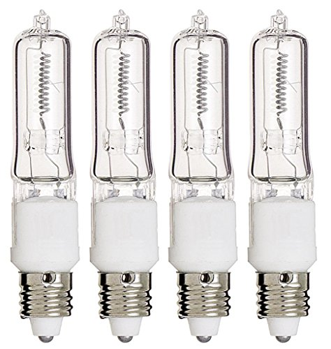 (Pack Of 4) Q75CL/MC - 75 Watt JD T4 E11 Mini Candelabra Base 120V Clear Light Bulbs
