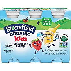 Stonyfield Organic, YoKids Strawbana Low Fat Smoothies, 3.1 oz, 6 Count