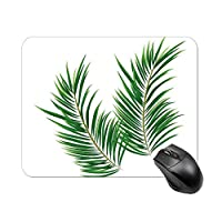 緑の熱帯雨林の葉マウスパッド ゲーミング オフィス最適 高級感 おしゃれ耐久性が良 付着力が強い20x25x0.3cm
