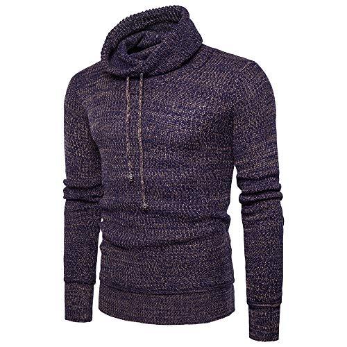 LSSM OtoñO/Invierno SuéTer De Cuello Alto con Cuello De Pelo De Calle para Hombre Camisa De Fondo De Color SóLido Cierre De Cremallera Cazadora Ropa De Abrigo