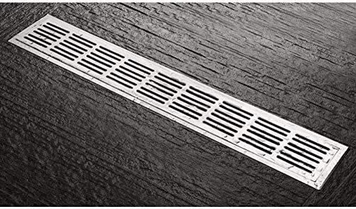 YYALL® Bodenablauf 60 cm Abflussart 304 Linearer Duschablauf aus Edelstahl 600 mm langer vertikaler Abflussflansch