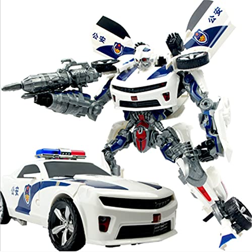 LUSTAR Action Figures Transformers Super Large Police Car Robot Figures Model Toys Anime Heroes Collezionismo 24cm