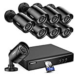 ANNKE 5MP Lite Security Camera System Outdoor 8 Channel H.265+ DVR and 8X1920TVL IP66 Weatherproof...
