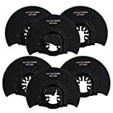 HIFROM 3-7/16 Inch(87mm) Semi-Circular Wood/Plastic/Soft-Metal Oscillating Saw Blades Kit, Saw Blade Set Compatible with Most of Oscillating Tool(6 Pack)