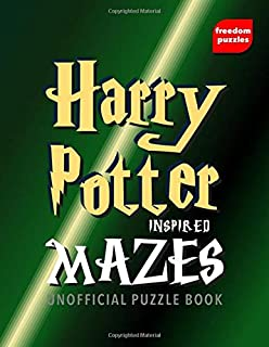 Harry Potter Inspired Mazes: Navigate your way through the labyrinths to locate the illustrations inspired by J.K Rowling'...
