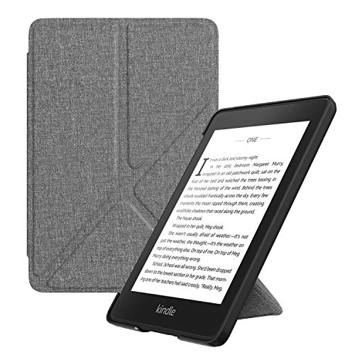 MoKo Hülle für Kindle Paperwhite (10. Generation – 2018), Kunstleder Origami Ständer Schutzhülle Smart Cover mit Auto Sleep/Wake für Amazon Kindle Paperwhite E-Reader - Grau