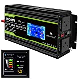 Novopal 1000 Watt Power Inverter Pure Sine Wave-12V DC to 230V/240V AC Converter
