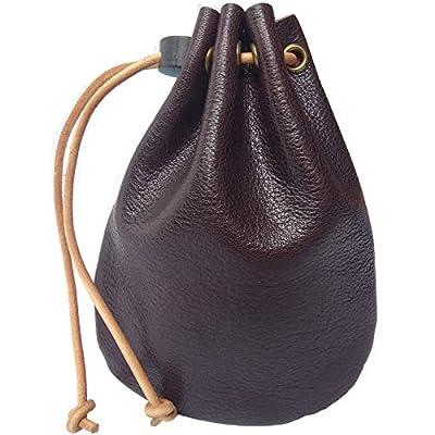 D.BATTI Genuine Leather Coin Bag (Coffee)