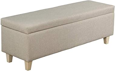 YUNTAO Featured Goods - Storage Ottoman Bench Multifunctional Seat Chest Ottoman Storage Bench Chest Linen Fabric Stool Uphol