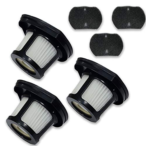PUREBURG 3-Pack Replacement Vacuum Dust Bin Filters Compatible with Bissell 2390 2390a 2389 Auto-Mate Cordless Hand Car Vac 2284W Pet Hair Eraser Cordless Pet Hand Vacuums Part 1614212 1614203 1614204