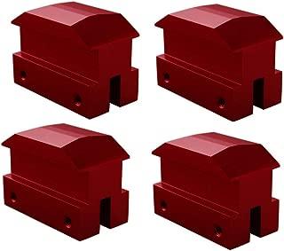 Dewhel Lift pads Jack Pad Billet Anodized Red Aluminum Floor Jack bolt on Jack Points For 6th gen Camaro 16-18,except convertable