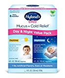Infant and Baby Cold Medicine, Hyland's Baby Mucus + Cold Relief, Day & Night Value Pack, Decongestant and Cough Relief, 8 Fl Oz