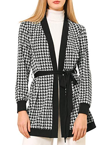 Sakaly Women's Slim Fitted Classic Houndstooth Business Work Knee-Length Formal Office Dresses SK276 (XXL, Houndstooth)