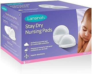 Lansinoh Stay Dry Disposable Nursing Pads, Pack of 100