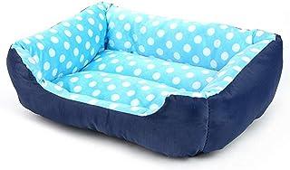 All Seasons Small Medium Size Extra Legowisko dla psa Dom Sofa Hodowla Miękkie kropki Polar Pet Dog Cat Warm Bed SML (Kolo...