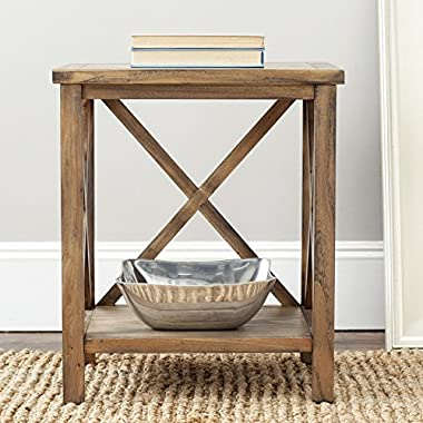 Safavieh American Homes Collection Candence Oak Cross Back End Table