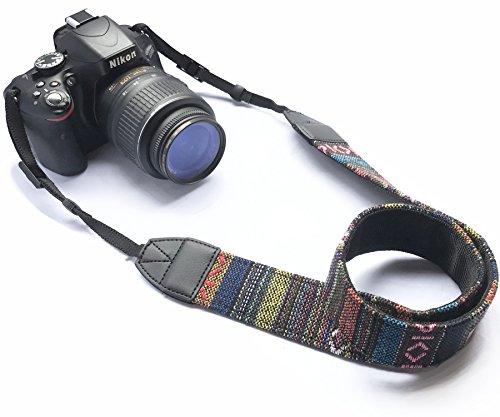 Alled Tracolle per Macchine Fotografiche,Cinghia Fotocamera Bohemia Vintage Spalla Cinghia Reflex per DSLR SLR Nikon Canon Sony Lumix Olympus Samsung Pentax Fujifilm Universale (Vintage)