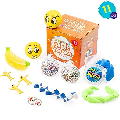 Paquete de 11 Juguetes Sensoriales perfectos para niños con necesidades especiales - Ideal para rellenos de calcetines navideños, regalos de fiesta y más.