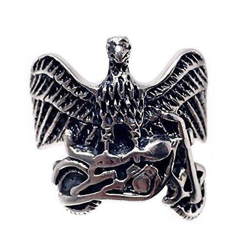 Act 925m Silber Ring rostige Fahrrad Adler Größe 14 [AB7191]