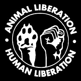 4×4 inch Animal & Human Liberation Sticker – Vegan Vegetarian Rights Welfare Anti Authority Establishment Corporation…