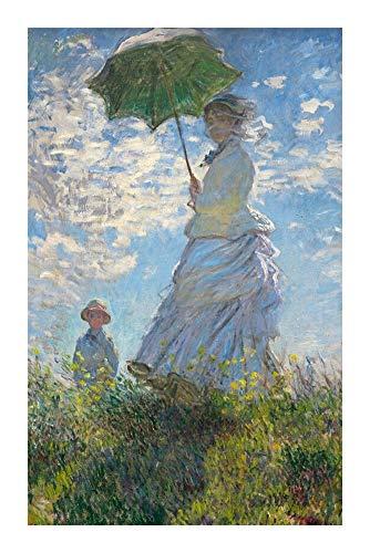 Puzzle a Cuadros Famosos del Mundo de Aceite Serie de la Pintura Rompecabezas Mujer con un Parasol   señora de Monet  Cada Pieza es única, encajan a la perfección (500/1000/1500 Piezas)