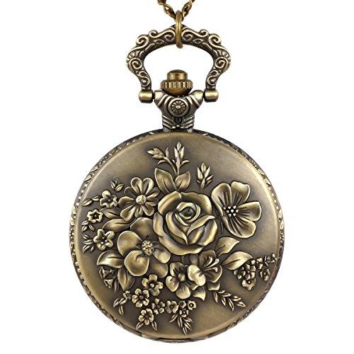 NICERIO Reloj de Bolsillo Antiguo Vintage con Cadena Reloj...