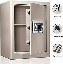 Digital Security Cabinet Safe Box Steel Single Door Anti-Theft Electronic Bedside Safe Deposit Box Lock Cabinets Cash Stro...