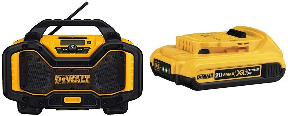 Popular product DEWALT DCR025 tooth Radio Charger Blue B XR Kansas City Mall Compact Li-Ion with