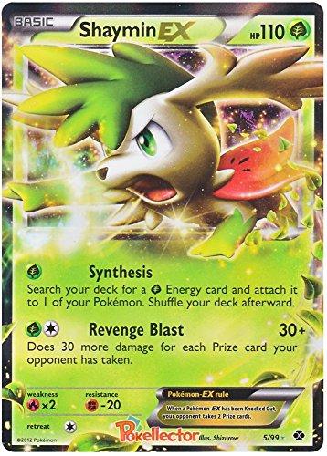 Pokemon Trading Card – Shaymin Ex 5/99 Bianco e Nero (B&W) Next Destinies – Rara
