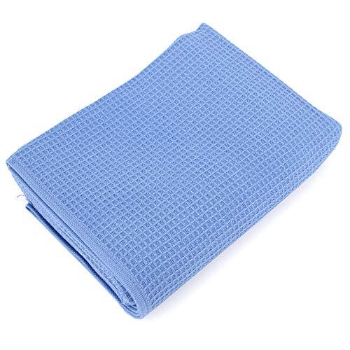 Handtuch, 50x 100cm Waffelpique Pure Waffle 300g/m² blau Meer