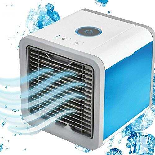 HGJINFANF Aire acondicionado Mini USB Enfriador de aire Aires acondicionados portátiles del Ártico Enfriador de luz de habitación Ventiladores de mesa pequeños