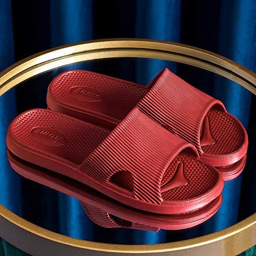 Sandali Punta Aperta Donna,Pantofole da Bagno Coppia,Una Sabbia Muta parola-36/37_Porcellana Rosso,Comfort Antiscivolo Pantofole Casual