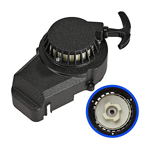 Black Aluminum Pull Starter Recoil Starter for 2 Stroke Engine 47cc 49cc Pocket Bike Mini ATV Dirt Bike