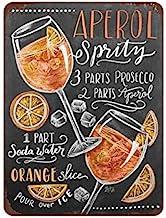 Mora color aperol Liquor tin Sign Metal Cafe Home Wall Art Decoration Poster Retro 8x12 inches