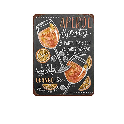 Mora color aperol Liquor tin Sign Metal Cafe Home Wall Art Decoration Poster Retro 8x12 inches