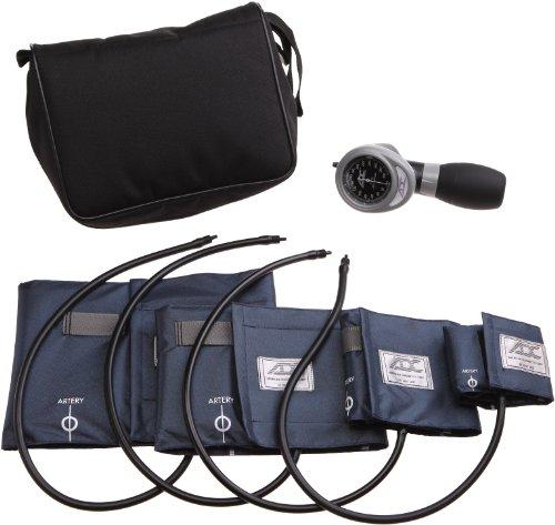 American Diagnostic 732-n multifunctioneel 732 4-cuff EMT-kit met 804 draagbare palm aneroïde bloeddrukmeter, bloeddrukmanchetten (13-50 cm), nylon zwarte ritssluiting opbergtas, marineblauw